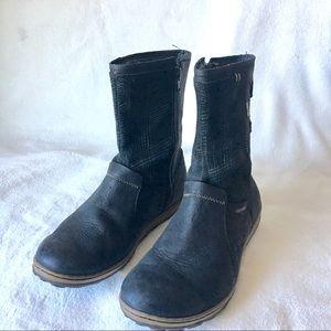 Merell black ankle boots flat sz 7